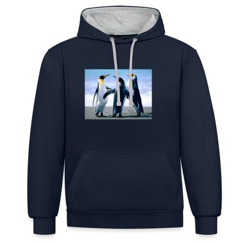 Penguins - Kontrast-Hoodie