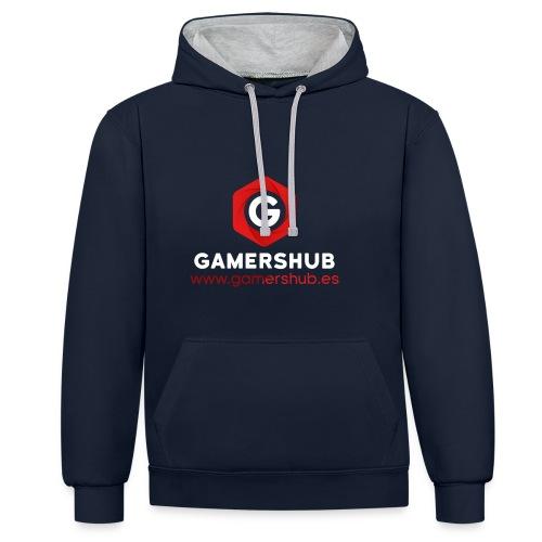 GamersHUB Oficial Promocional - Sudadera con capucha en contraste