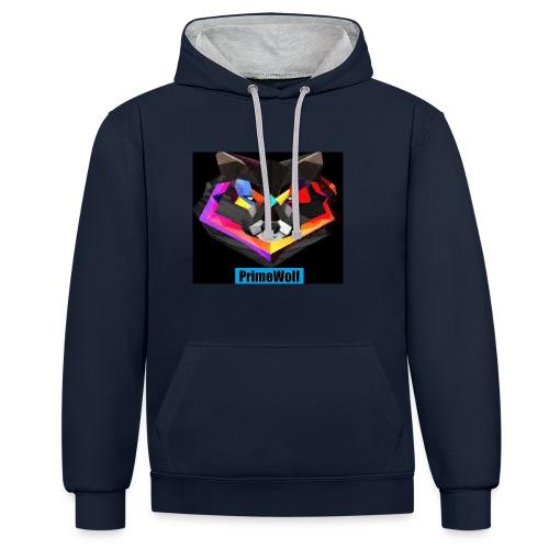 PrimeWolf Design - Contrast Colour Hoodie
