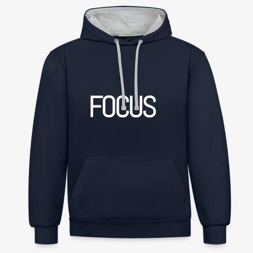 Focus - Contrast Colour Hoodie