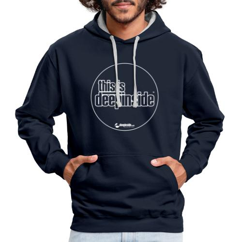 This is DEEPINSIDE Circle logo white - Contrast Colour Hoodie