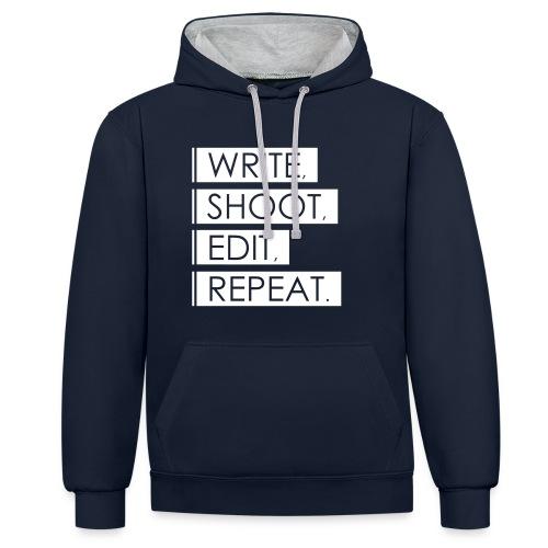 Write, Shoot, Edit, Repeat - Kontrast-Hoodie