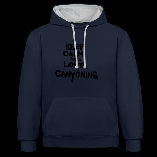 keep calm and love canyoning - Kontrast-Hoodie
