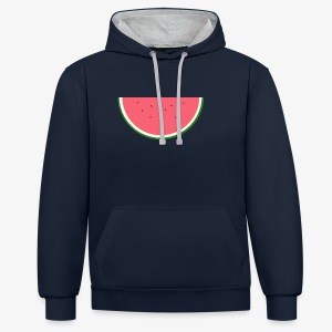 STERN MELONE - Digital MELON - Digital Fruit - Kontrast-Hoodie