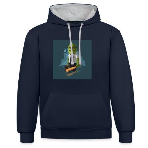 shirt-1463945236-5daf81e62c0d1d7638f8dc3cd92c79b7 - Sudadera con capucha en contraste