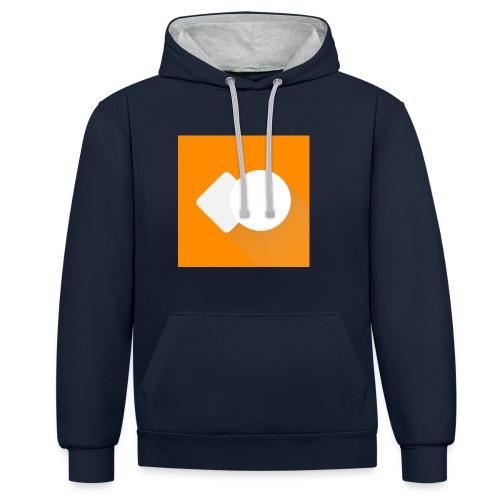 Offizielles Logo! - Kontrast-Hoodie