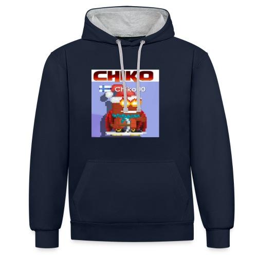 chiko00 fain juttuja :D - Contrast Colour Hoodie