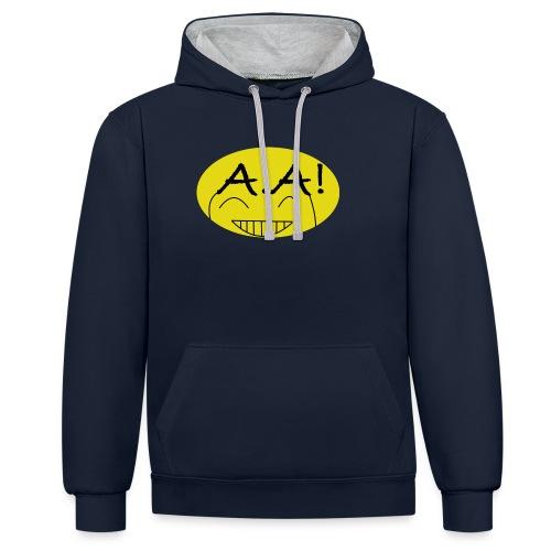 A.A! - Kontrast-Hoodie