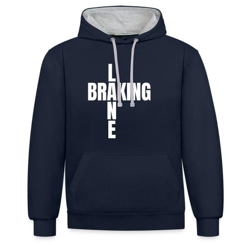 Braking Lane black - Kontrast-Hoodie