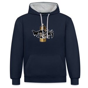 Golden Spray Can Bombing Tool - Kontrast-Hoodie