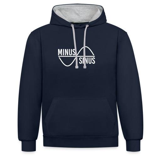 Minus Sinus Logo für dunklen Hintergrund - Kontrast-Hoodie