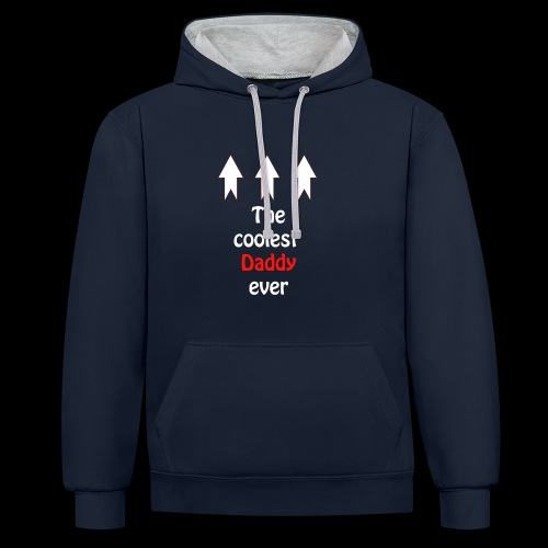 The coolest Daddy ever - Kontrast-Hoodie