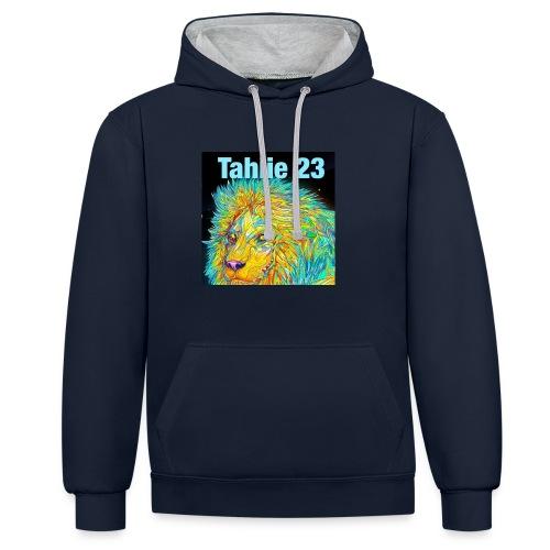 Tahlie 23 lion logo - Contrast Colour Hoodie