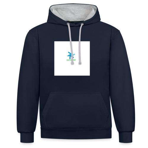 DeoxGames Camiseta - Sudadera con capucha en contraste