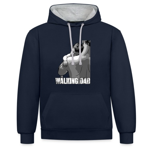 The Walking Dad - Kontrast-Hoodie