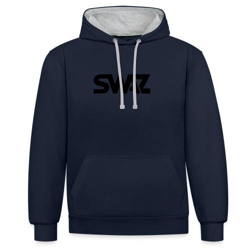 swaz-icon-black - Contrast Colour Hoodie