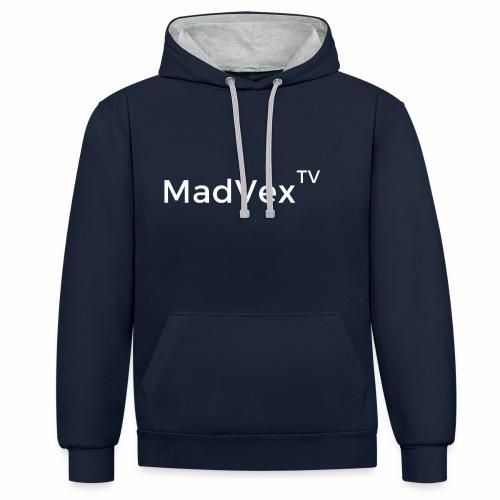 MadVexTV Schriftzug - Kontrast-Hoodie