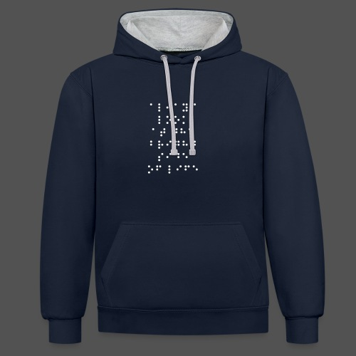 Braille fashion - Contrast hoodie