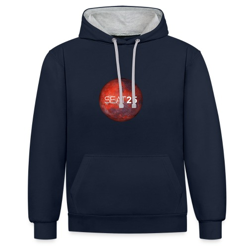 Mars and Logo - Contrast Colour Hoodie