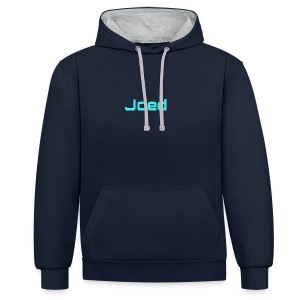 JOEDJR2020 70 SUBS MERCH - Contrast Colour Hoodie