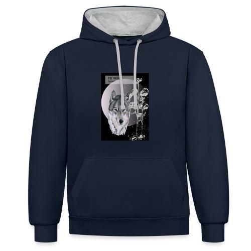 Re wild britain tee shirt - Contrast Colour Hoodie