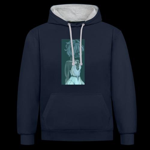 Steven Universe Blue Pearl Fanart - Contrast Colour Hoodie