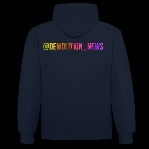 @demolition_news - Contrast Colour Hoodie