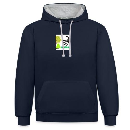 logo_arrebol_bueno - Sudadera con capucha en contraste