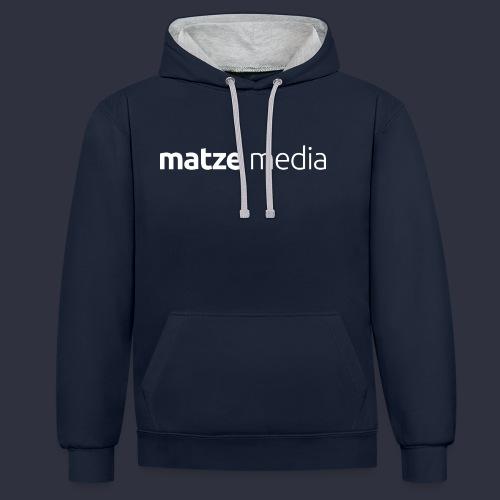 matze media White - Kontrast-Hoodie