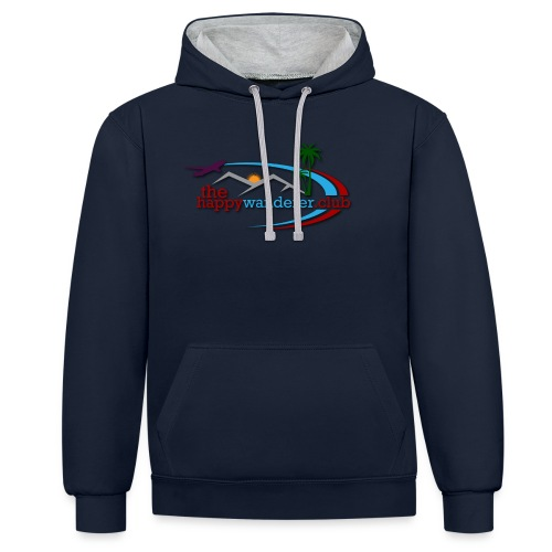 The Happy Wanderer Club - Contrast Colour Hoodie
