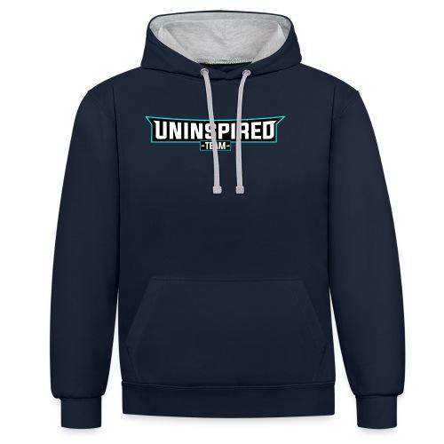 Team Uninspired - Kontrast-Hoodie