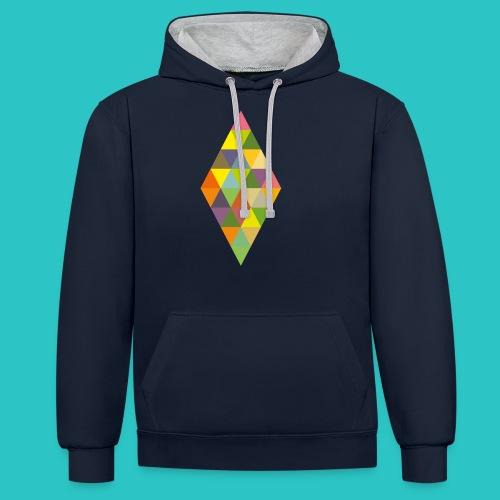 Rhombus - Kontrast-Hoodie