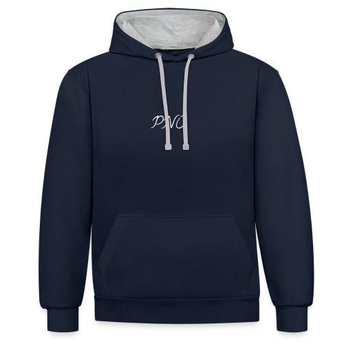 PNO Hoodie(Black) - Kontrast-Hoodie