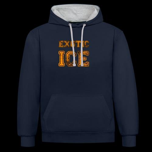 EXOTIC ICE - Kontrast-hættetrøje