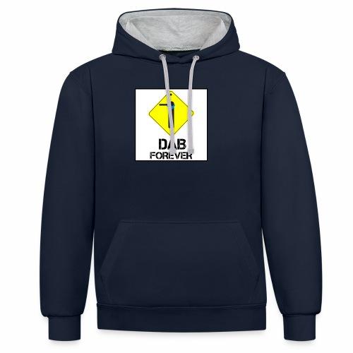 Dab Forever Yellow Black - Felpa con cappuccio bicromatica