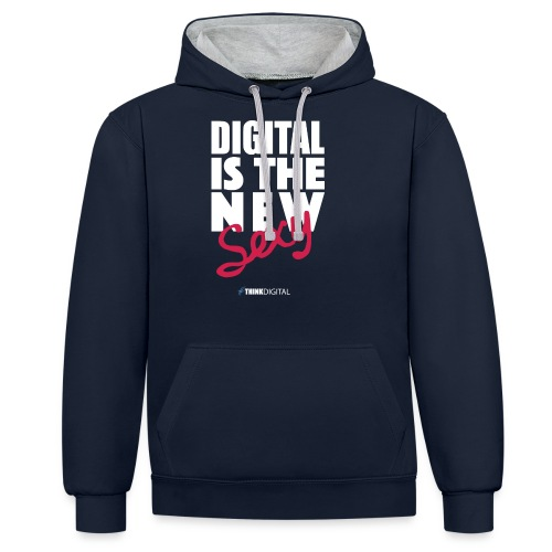 DIGITAL is the New Sexy - Felpa con cappuccio bicromatica