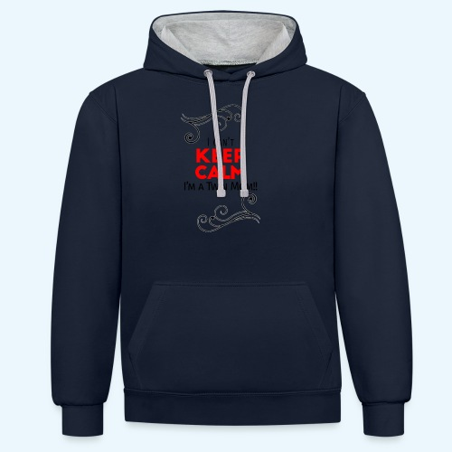 I Can't Keep Calm (voor lichte stof) - Contrast hoodie