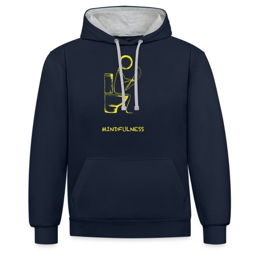 Mindfulness t-shirt - Contrast Colour Hoodie