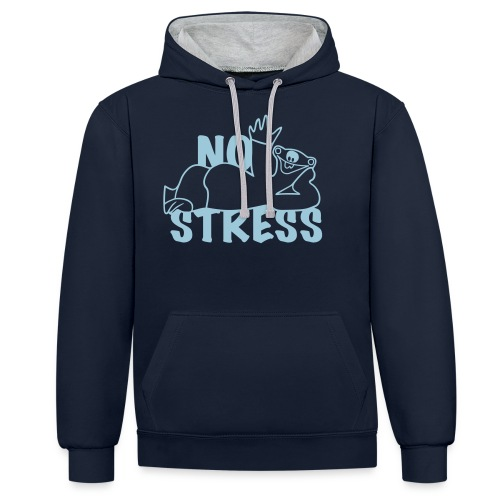 No Stress - Kontrast-Hoodie
