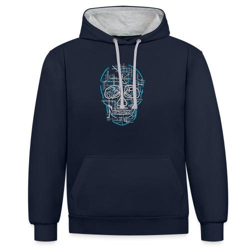 electric skull tshirt ✅ - Kontrast-Hoodie