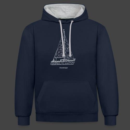 Doordraijer - Contrast hoodie