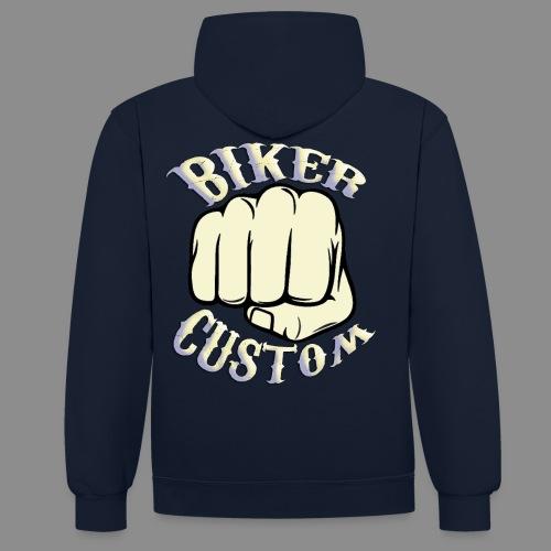 Biker Custom - Sudadera con capucha en contraste