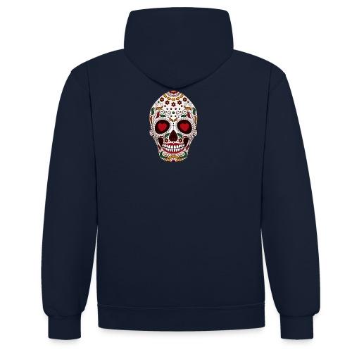 Skeletor felt in love - Kontrast-Hoodie