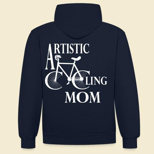Kunstrad | Artistic Cycling Mom white - Kontrast-Hoodie
