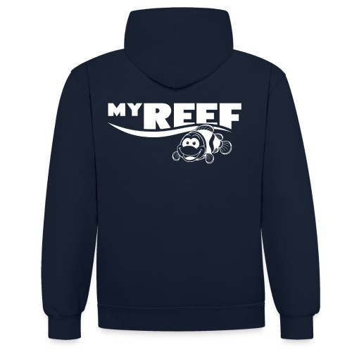 MyReef WhiteOnTransparent png - Contrast hoodie