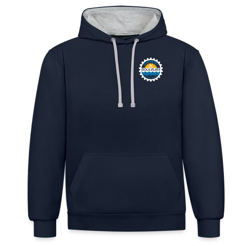 Guernsey Rouleurs Small Reversed Logo - Contrast Colour Hoodie
