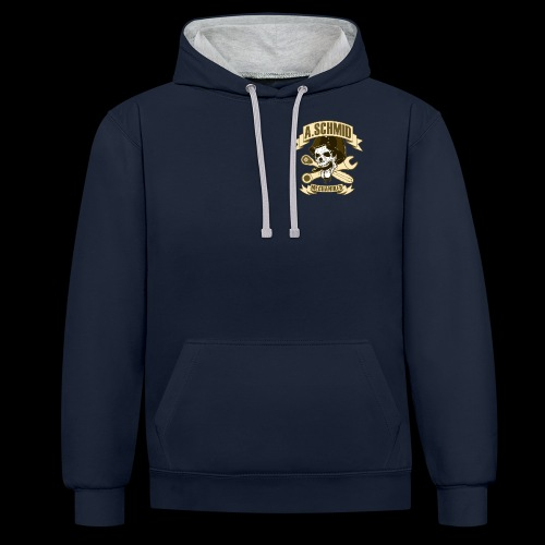 Mechaniker_Patch_Schmid - Kontrast-Hoodie