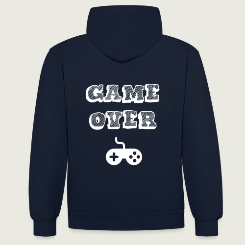 Game over jeux video - Sweat-shirt contraste