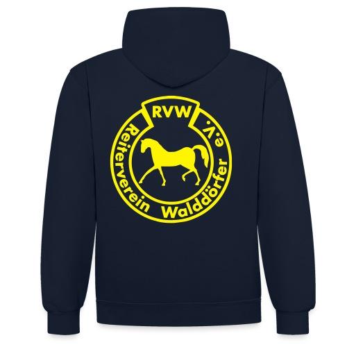 RVW Logo gelb - Kontrast-Hoodie