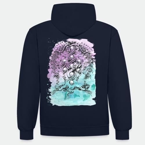 Yggdrasil - Contrast Colour Hoodie